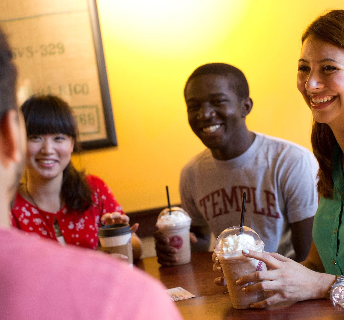 Students Talking at American Cafe